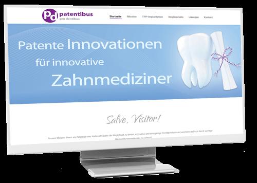 Monitor mit Website www.patentibus.de