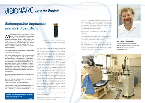 Bericht über biokompatible (bioverträgliche) Zahnimplantate
